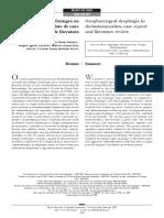 Disfagia Orofaríngea Na Dermatomiosite - Relato de Caso e Revisão de Literatura