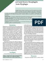 Doxycycline Induced Acute Erosive Oesophagitis and Presenting as Acute Dysphagia