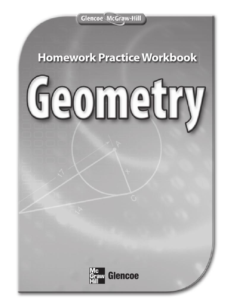 worksheet Glencoe Mcgraw Hill Geometry Worksheet Answers geometry home practice workbook area triangle