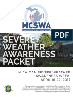 Michigan Severe Weather Awareness Packet April 2017