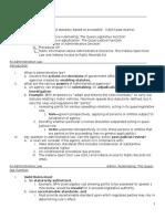 Administrative Law, MiniOutline