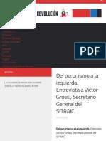Del peronismo a la izquierda. Entrevista a Víctor Grossi, Secretario General del SITRAIC. – Novedade