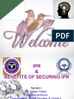 Manju Benefits of Securing IPR