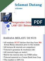 Kuliah 1 Intro to Malay