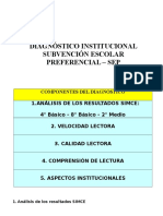 Componentes de Diagnostico Institucional - Sep