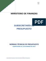 Normativa Presupuestaria Codificada 22 de Marzo de 2017
