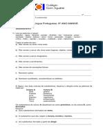 Língua Portuguesa 6º Ano