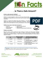 Caffeine Fact Sheet