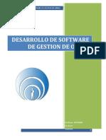 1 Desarrollo de Software Gestion de Obras