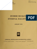 Hybrid  Rocket  Internal Ballistics