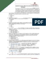 Evaluación Diagnostica Del Área de Educación Para El Trabajo