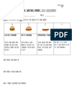 descriptive writing- hamburger rubric