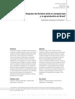 Disputas Territoriales Entre El Campesinado y la Agoindustria en Brasil
