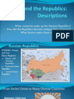 russia and the republics-  descriptions