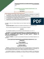 Ley de Disciplina Financiera de Las Entidades Federativas y Municipios