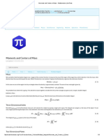 Moments and Centers of Mass - Mathematics LibreText2s