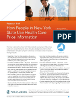 How People in New York State Use Health Care Price Information