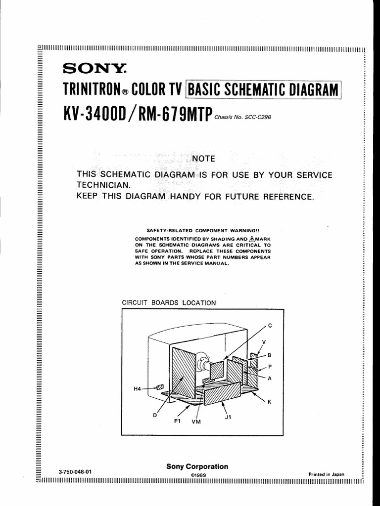Trinitron Sony Tv Schematics Electrical Wiring Diagrams Colour T V Circuit Diagram Kv 3400d Schematic