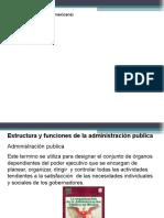 estructura y funciones en la admon publica