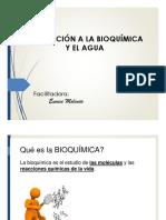 1 Introduccion Bioquimica Agua BIOLOGIA 13marzo17