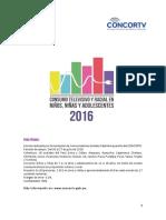 2016 Resumen Ejecutivo Estudio Niñoz Adolescentes CONCORTV