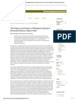 The Politics and Poetics of Philippine Festival in Ninotchka Rosca's State of War _ Mendible _ International Fiction Review