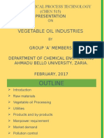 Vegetable Oil Industry
