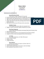 alison resume