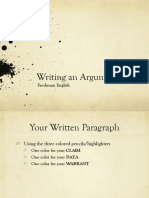 writing an argument ppt