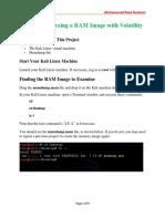 Analyzing a RAM Image With Volatility