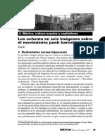 Los Ochenta en Seis Imagenes Sobre El Movimiento Punk Barcelones