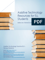 Assistive Technology Resources for ELL Students