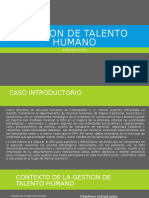 Gestion de Talento Humano Introduccion