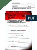 7th Grade PDE Worksheet