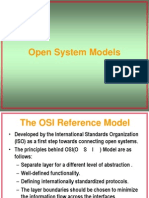 Open System Models - OSI Reference Model