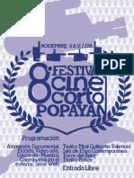 Programación Festival Cine Corto Popayán 2016