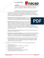 Especificaciones de Un PLC