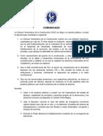 Cámara Venezolana de la Construcción considera que el TSJ excedió los límites con sentencias (Comunicado)