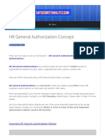 HR General Authorization Concept