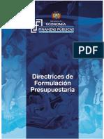 Directrices de Formulación Presupuestar a 2017