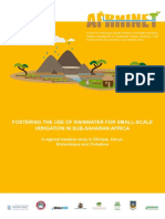 FOSTERING THE USE OF RAINWATER FOR SMALL-SCALE IRRIGATION IN SUB-SAHARAN AFRICA