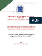 Ponencia del Comportamiento Organizacional (C.O.)
