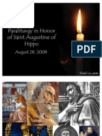 Paraliturgy in Honor of Saint Augustine of Hippo