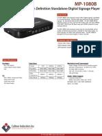 MP-1080B | Caltron High Definition Standalone Digital Signage Media Player
