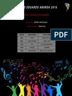 Obras Preclasificadas - Música Tropical