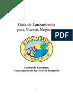 AISTENCIA  PARA APERTURA DE NEGOCIOS PEQUEÑOS Kissimmee Start Up Guide - SPANISH 2014 Modified Jun15