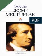 Goethe Seçilmiş Mektuplar Can Yayınları