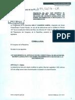 Proyecto de ley de fujimorista Nelly Cuadros sobre DL 1323
