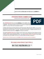 Inst Codes List--rev November 2014