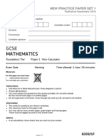 AQA 83001F New Practice Paper 1 QP Sept 15